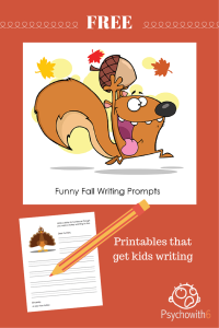 funny fall writing graphic