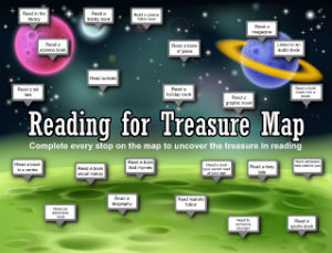 Reading Treasure Hunt Map