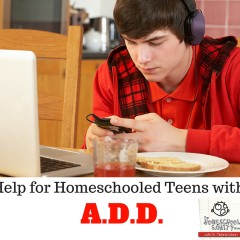 Help for Homeschooled Teens with ADD