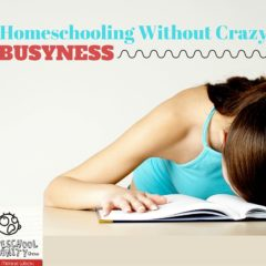 Homeschooling Without Crazy Busyness