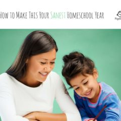 How to Make This Your Sanest Homeschool Year