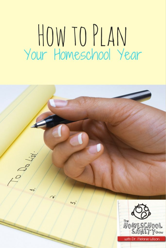 How to Plan Your Homeschool Year podcast