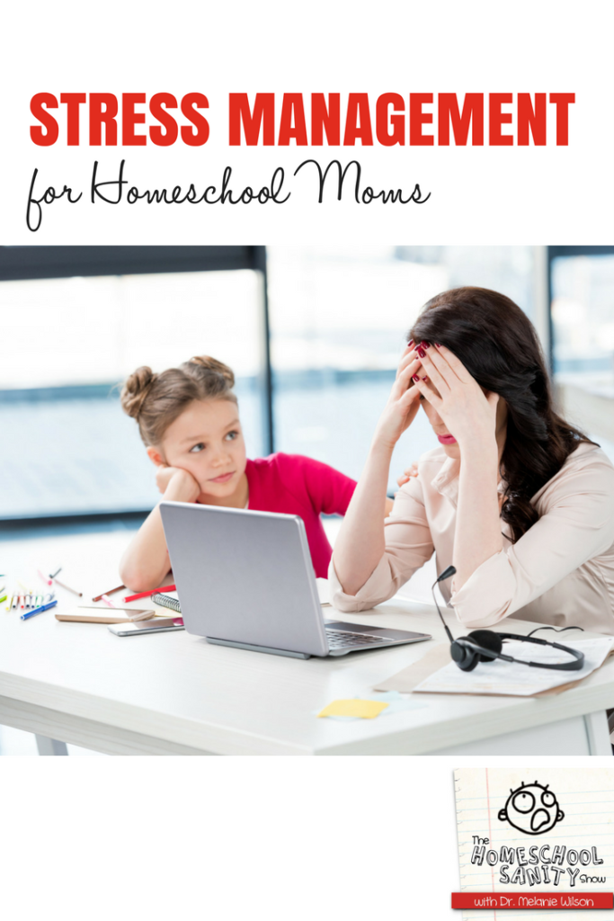 Stress management for homeschool moms #stressmanagement #homeschool